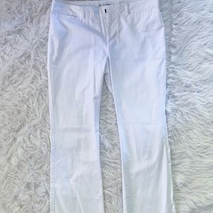 BANANA REPUBLIC | White wide leg flare pants